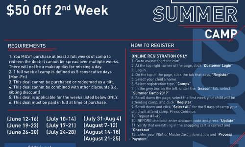Netsports Summer Camp 2017